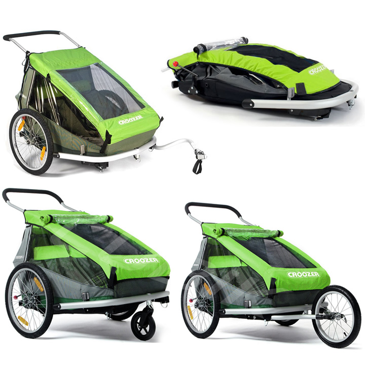 przyczepka rowerowa croozer kid for 2. Black Bedroom Furniture Sets. Home Design Ideas