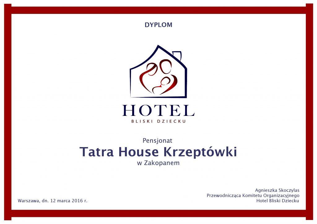 Dyplom Tatra House